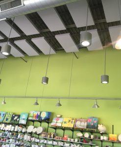 Clay Corner Studio GIK 242 Acoustic Panels on Ceiling Green