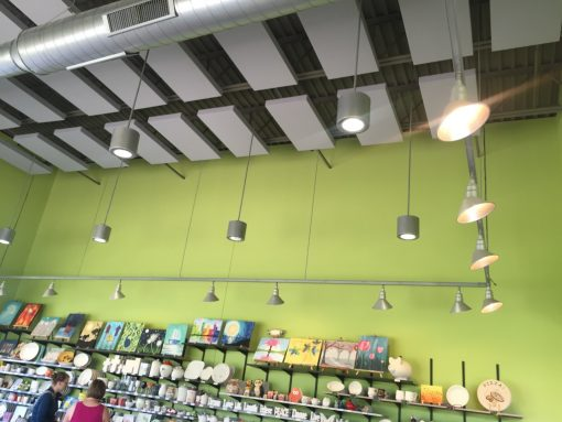 Clay Corner Studio GIK 242 Acoustic Panels on Ceiling Green