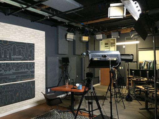 Jesse Gay Treehouse Studio GIK 242 Acoustic Panels and Lights