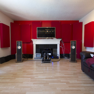 Sonus home theater with 242 acoustic absorbers