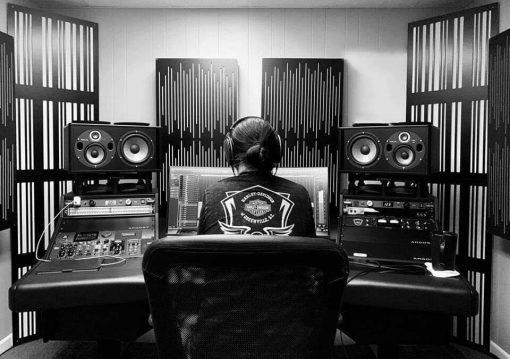 Brandon Moore Mixing Studio GIK Acoustics Impression Pro Series