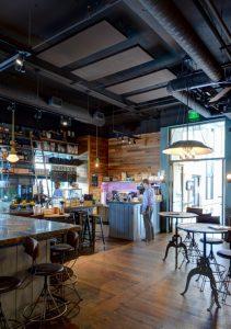 GIK Acoustics ceiling akustikpaneele akustik restaurant