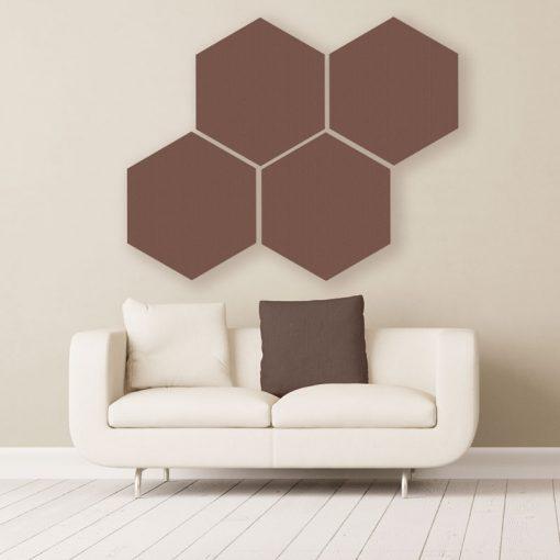GIK Acoustics Hexagon absorber Schokoladenfarbe